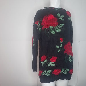 Vintage Westbound Floral Knit Sheer Thick Knit